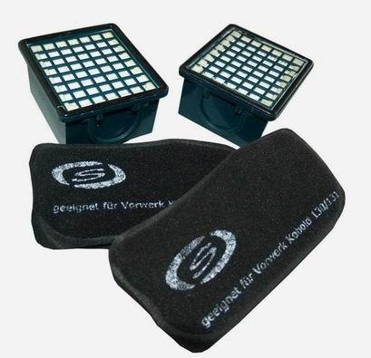 2 x aktivkohlefilter 2 x mikrofilter geeignet f r vorwerk kobold 130 131 131sc ebay. Black Bedroom Furniture Sets. Home Design Ideas