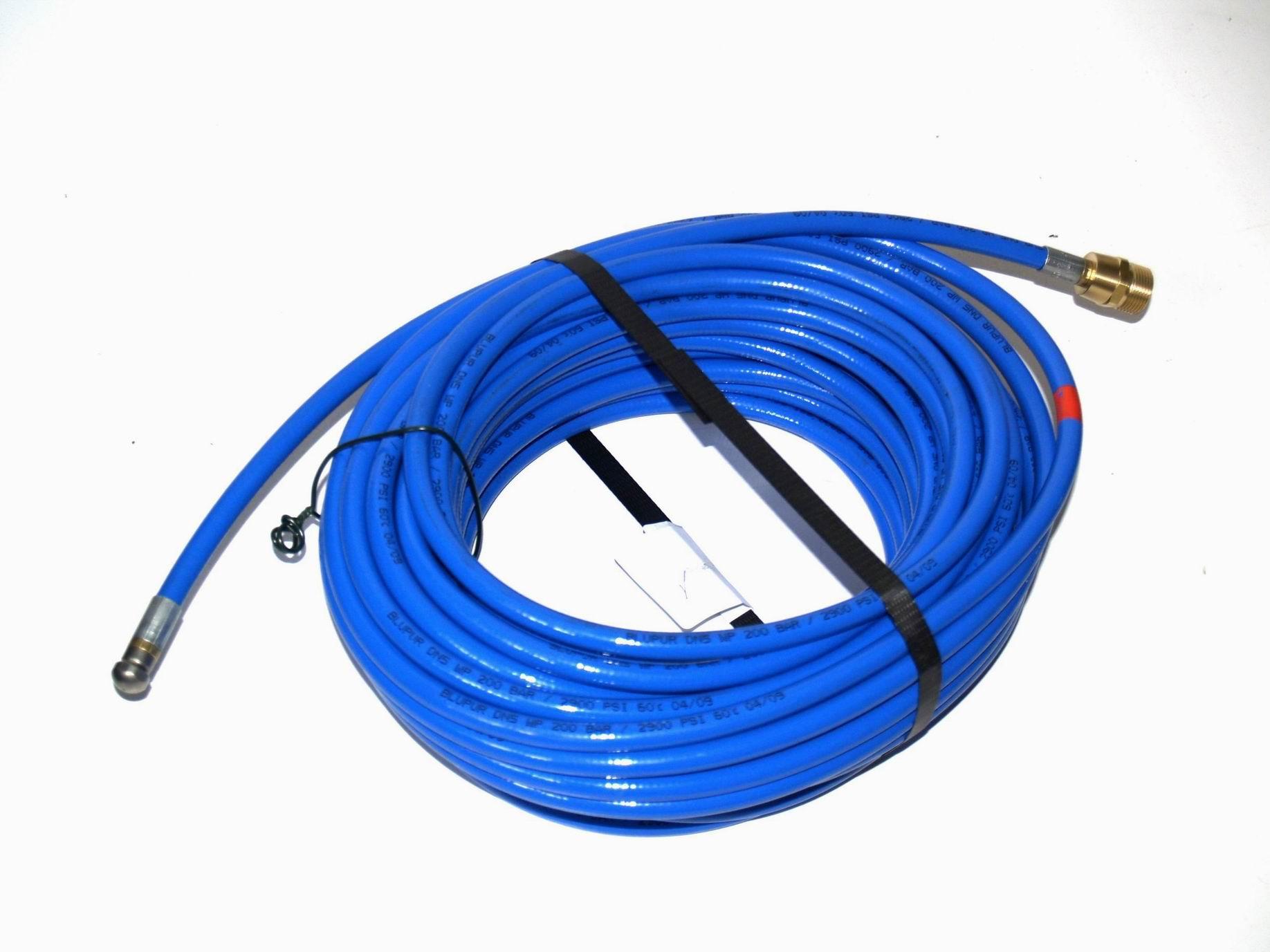 25m tuyau pour nettoyage de tubes bleu pour nettoyeur haute pression kr nzle m22 ebay. Black Bedroom Furniture Sets. Home Design Ideas